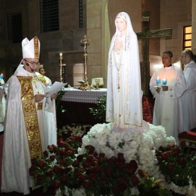 احتفالية ذكرى تتويج مريم العذراء ملكة الكون في دير ماريوسف